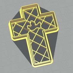Download 3D printing designs CROSS AND DOVE CUTTER CORTANTE CRUZ Y PALOMA, atractor3d