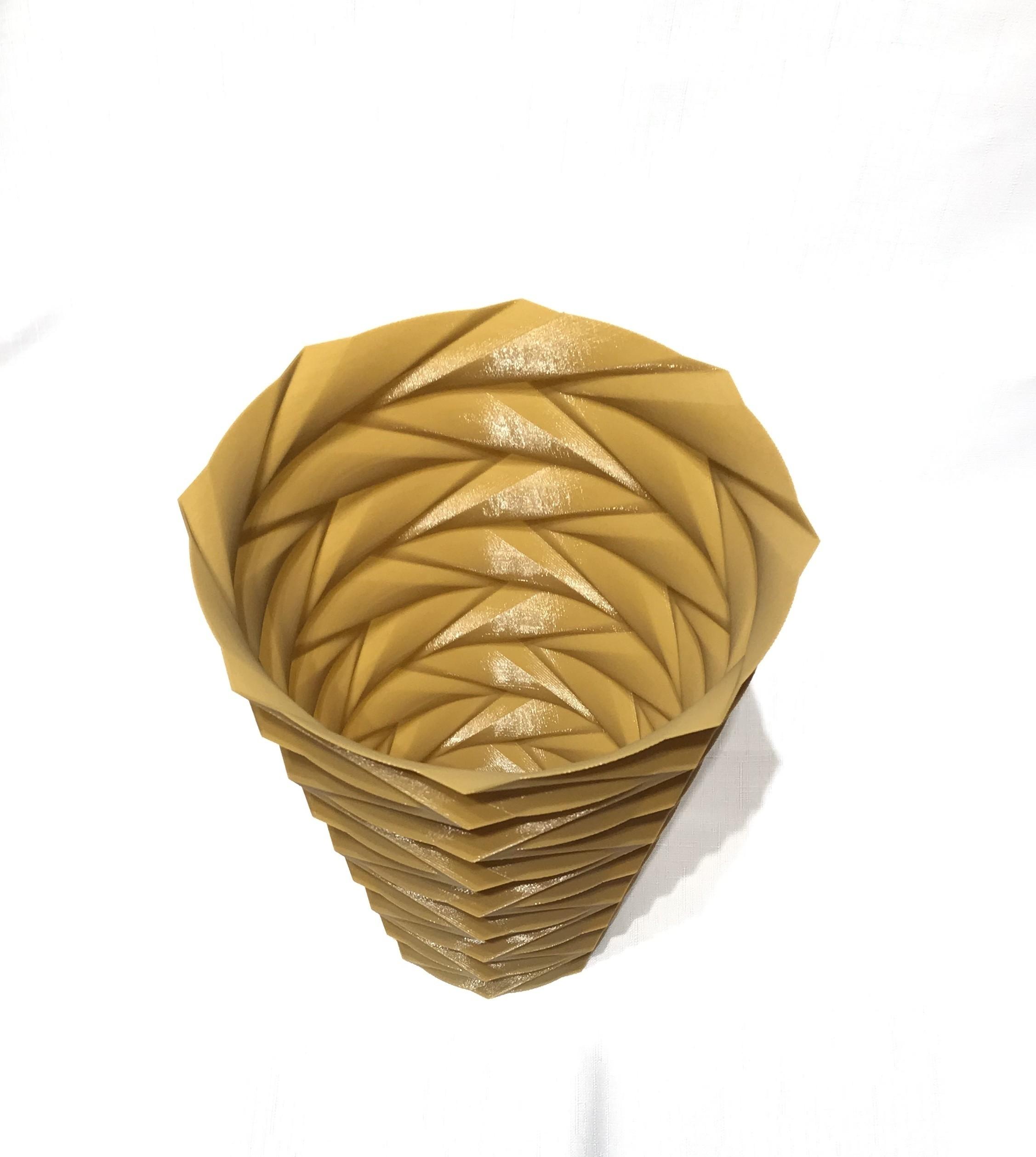 IMG_5127.jpg Télécharger fichier STL gratuit vase en zigzag v1 • Design pour imprimante 3D, Brithawkes
