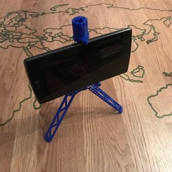 Free 3D printer files Mobile phone tripod, Brithawkes