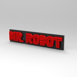 untitled.34.jpg Download free STL file Mr Robot Logo • Template to 3D print, franm1994