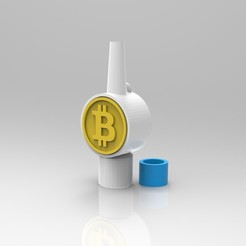 untitled.82.jpg Download STL file BITCOIN SHISHA HOOKAH COIN TIP CRYPTO • 3D print design, franm1994