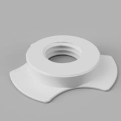 parametric_spool_nut_white.png Télécharger fichier STL gratuit Ecrou de bobine paramétrique pour le porte-bobine universel à rembobinage automatique • Design pour impression 3D, mkoistinen