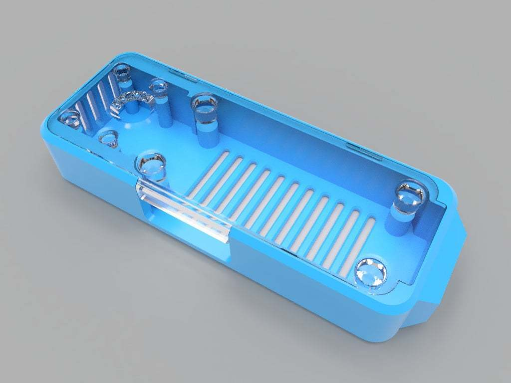top-side-view-blue.jpg Download free STL file Homekit Camera Case (HKCam) • 3D printable model, mkoistinen