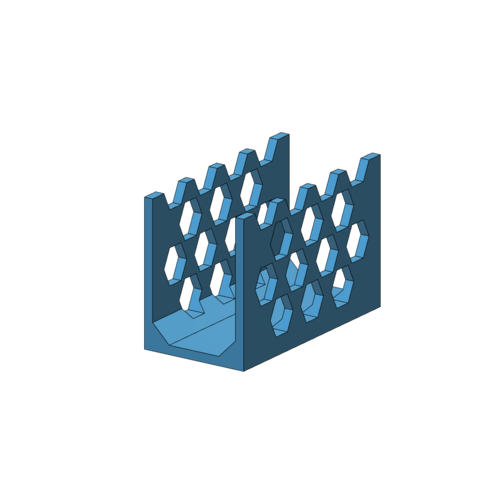 Download free STL Honeycomb Mail Holder, Toezy
