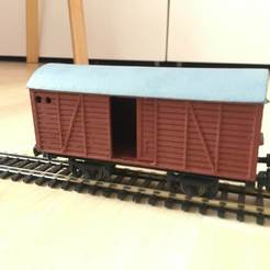 Download free STL file HO (1:87) Scale Box Wagon with sliding doors • 3D printable design, nenchev
