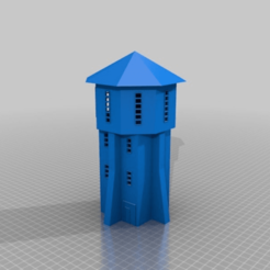 Download free STL file Old style brick water tower - HO scale (1:87) • 3D print template, nenchev
