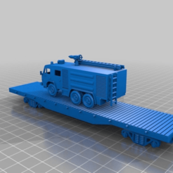 Download free STL file 50 t flat car platform 1:87 - HO / H0 scale • 3D print model, nenchev