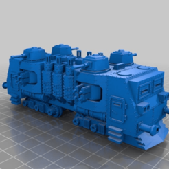 Download free 3D printer files WARHAMMER 40K Armored train loco - 18 mm scale - 1:87 HO gauge w/ motor, nenchev