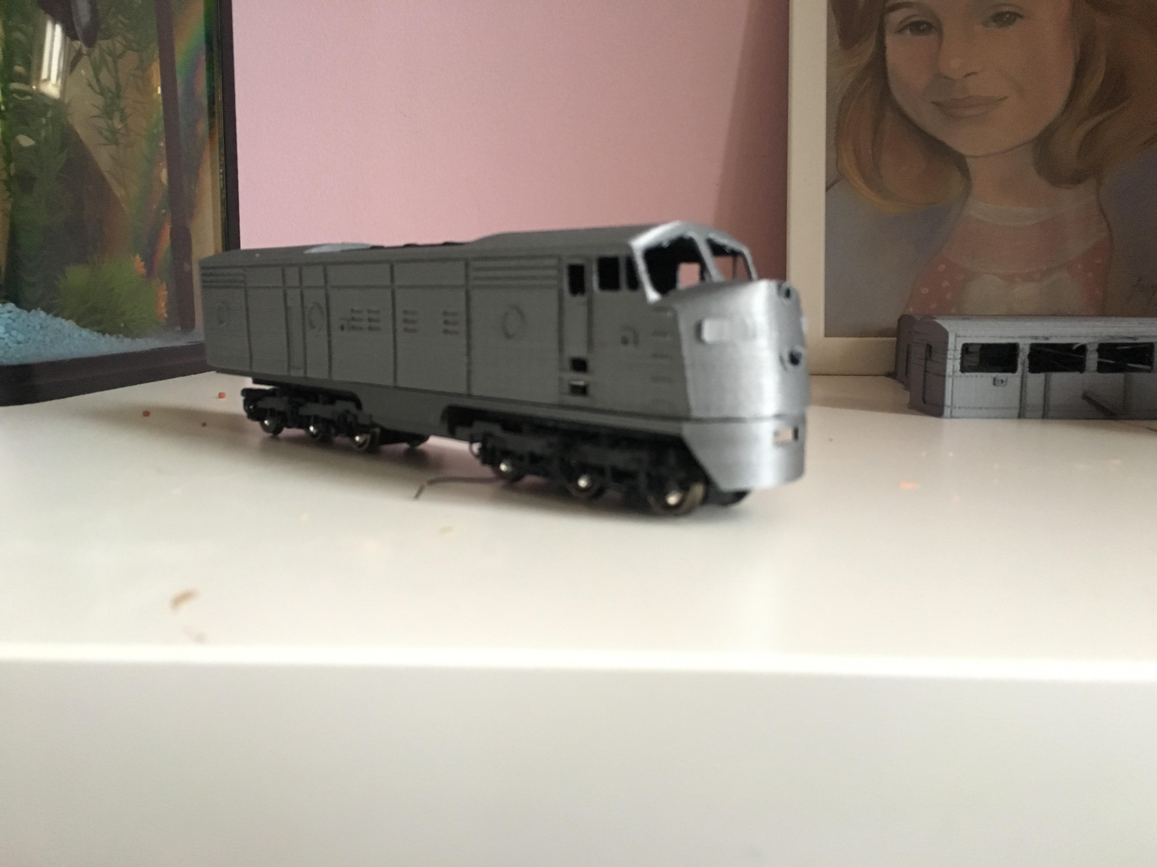 IMG_6990.JPG Télécharger fichier STL gratuit Santa Fe - Super Chief - F-series, Un train miniature à l'échelle 1:87 • Objet pour impression 3D, nenchev