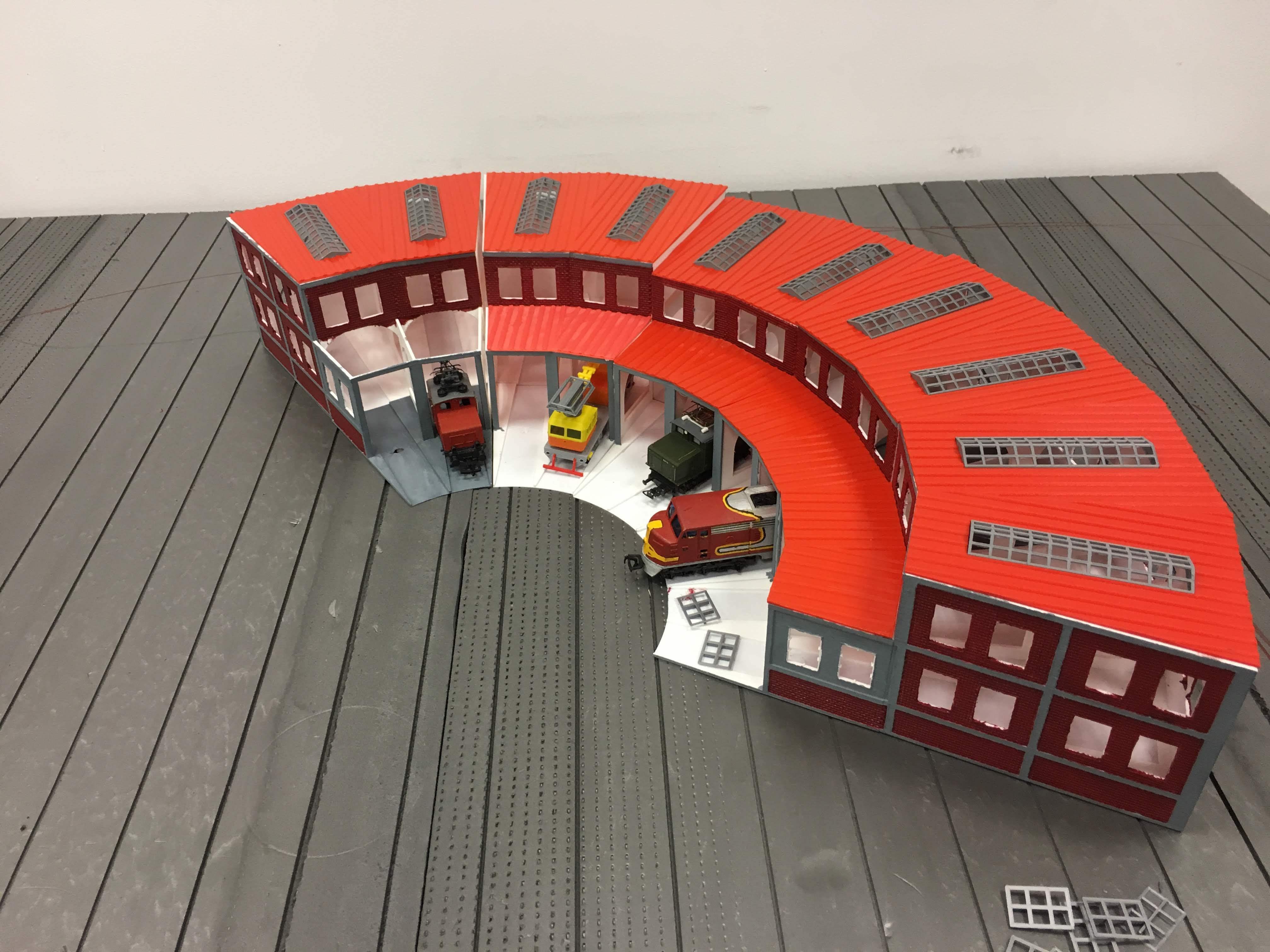 IMG_7400.jpg Télécharger fichier STL gratuit Dépôt de train à l'échelle 1:87 HO avec table tournante • Plan pour imprimante 3D, nenchev