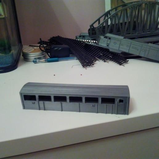 Télécharger fichier STL gratuit Santa Fe - Super Chief - Série F, PASSENGER CAR - train miniature en HO (1:87) • Design à imprimer en 3D, nenchev