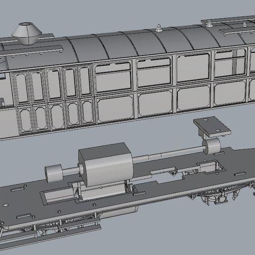 Télécharger fichier STL gratuit Wagon à vapeur GANZ - 1903 / BDZ Série 200 / HO Échelle 1:87 • Design pour imprimante 3D, nenchev