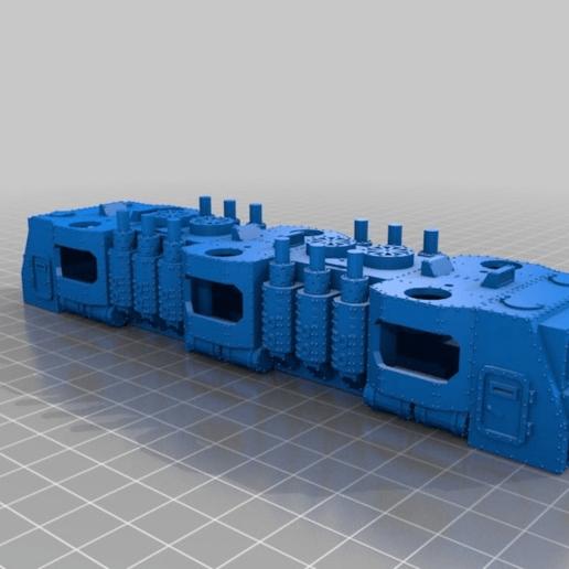 Télécharger fichier STL gratuit WARHAMMER 40K Train blindé BIGGER loco - échelle 18 mm - écartement 1:87 HO • Plan pour imprimante 3D, nenchev