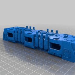 Download free STL file WARHAMMER 40K Armored train BIGGER loco - 18 mm scale - 1:87 HO gauge • 3D printing design, nenchev