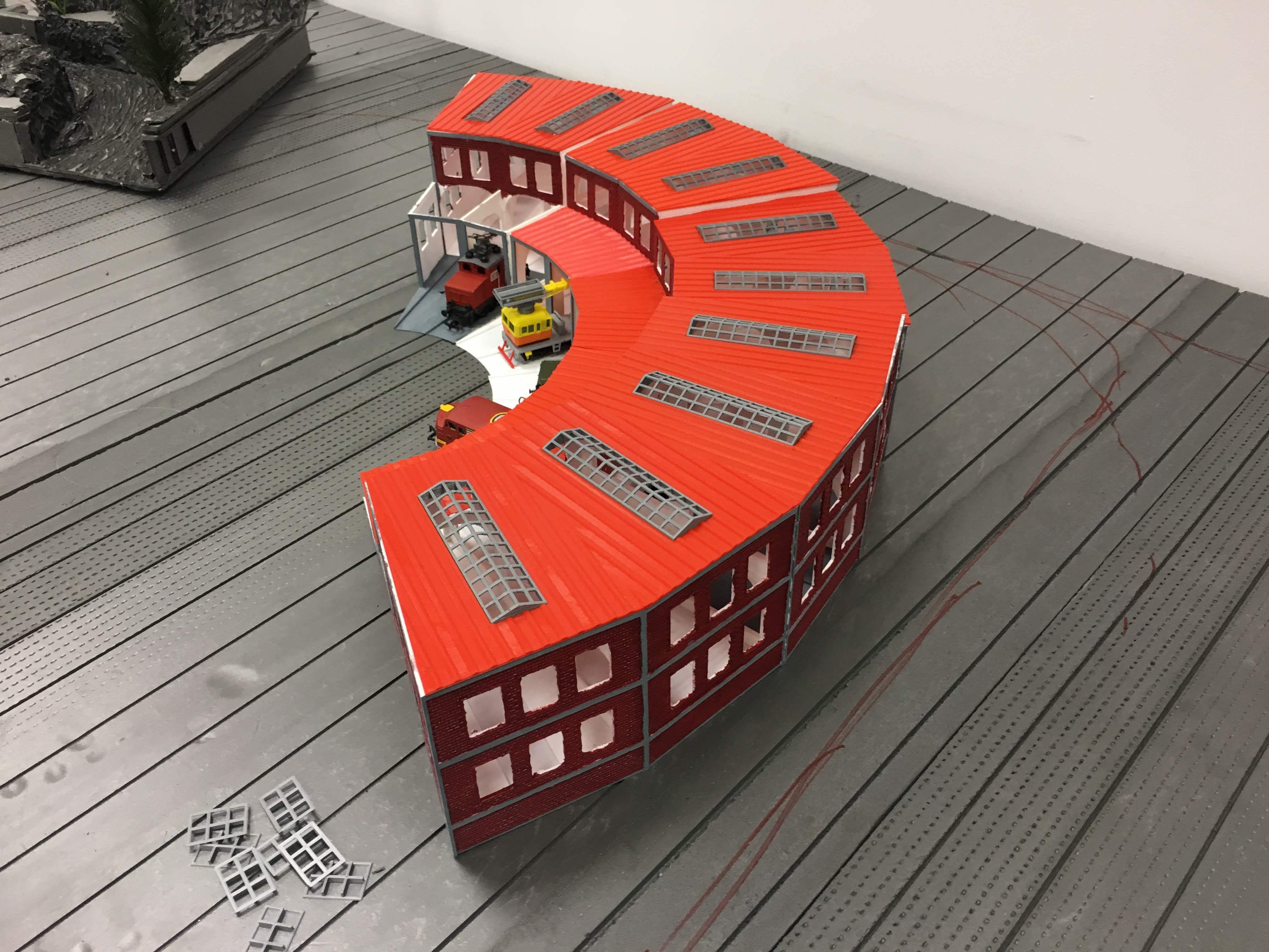 IMG_7403.jpg Télécharger fichier STL gratuit Dépôt de train à l'échelle 1:87 HO avec table tournante • Plan pour imprimante 3D, nenchev