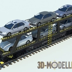 Download free 3D printing files 3-in-1 HO scale 1:87 railroad wagon, nenchev