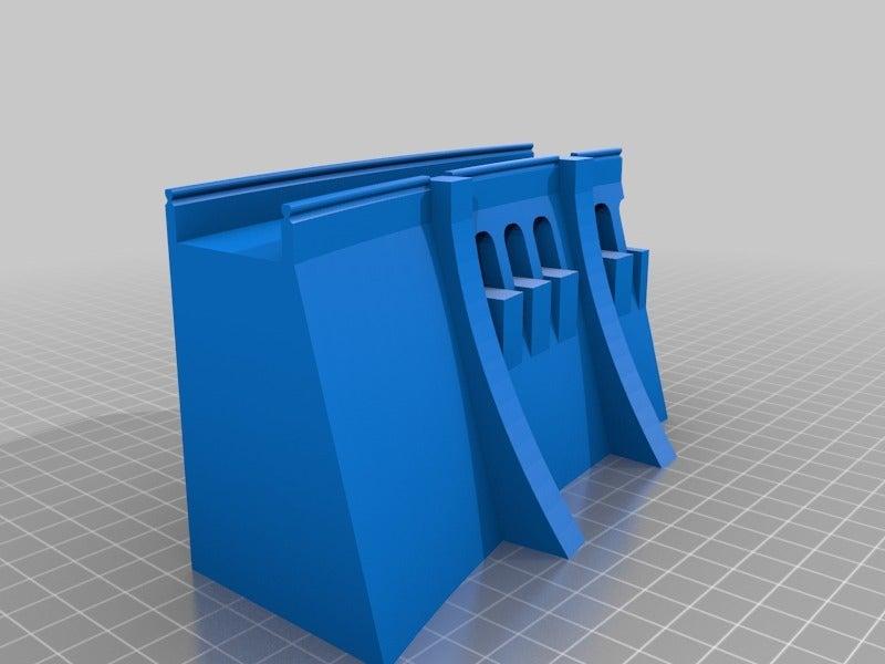 0832df103c48f14c599e3b58dc582fc3.png Télécharger fichier STL gratuit Mur de barrage simple - échelle HO (1:87) • Modèle à imprimer en 3D, nenchev