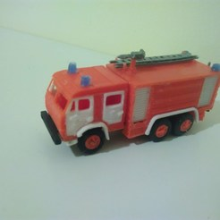 Download free STL file Russian Fire Truck - KamAZ 1:87 (H0 scale) • 3D printer object, nenchev