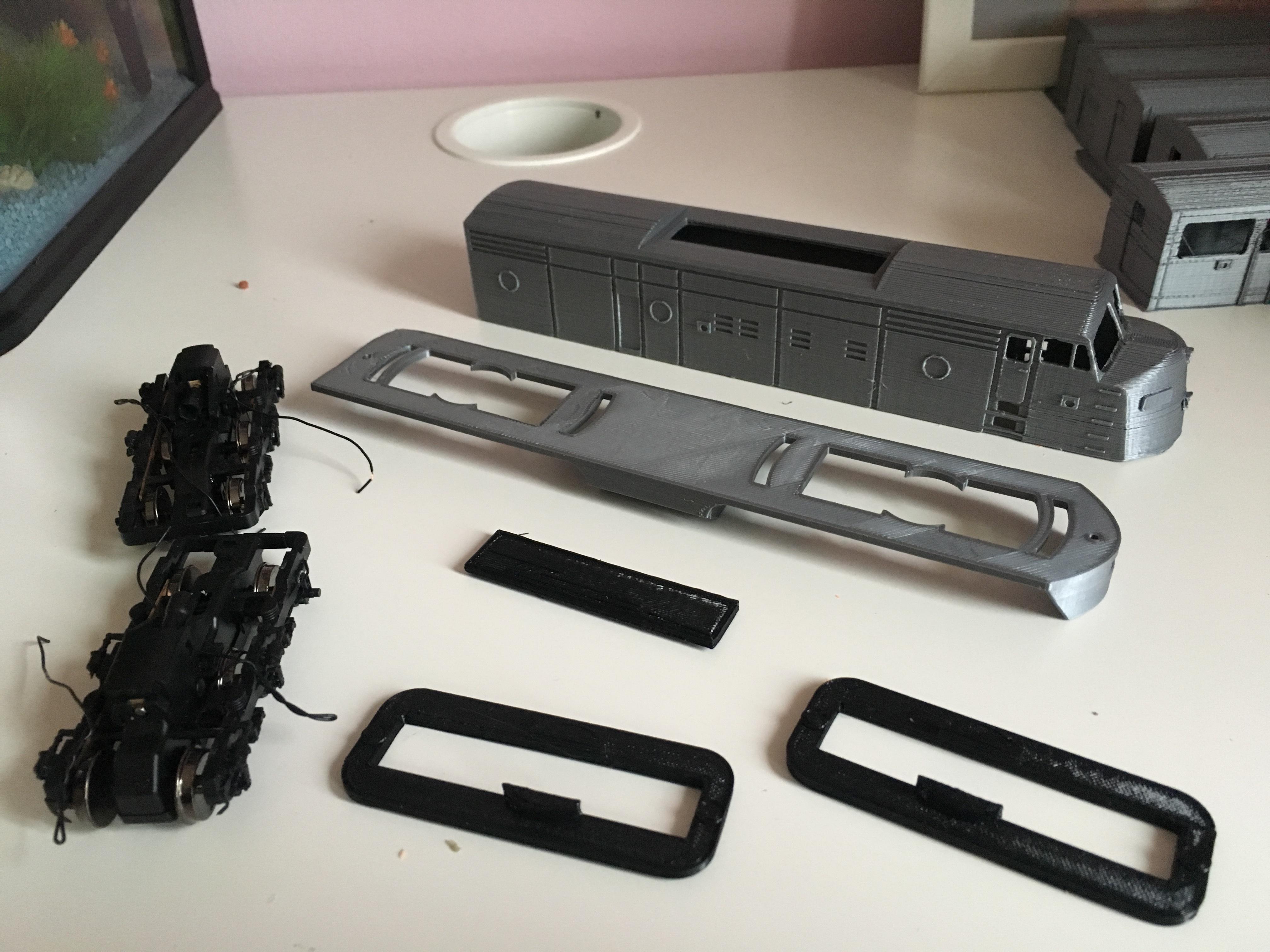 IMG_6993.JPG Télécharger fichier STL gratuit Santa Fe - Super Chief - F-series, Un train miniature à l'échelle 1:87 • Objet pour impression 3D, nenchev