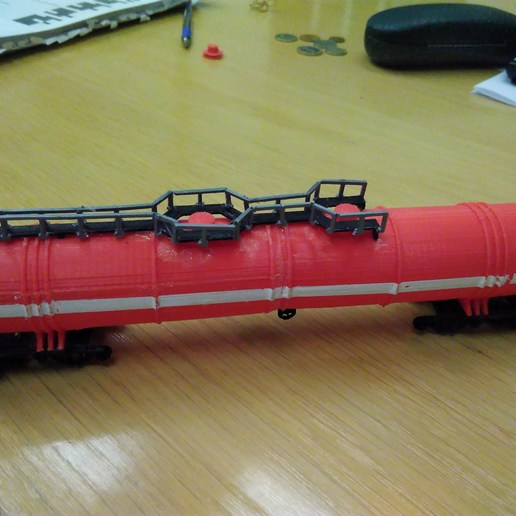 Download free STL file 8 axl, 120 ton water railroad tank H0 (1:87), nenchev