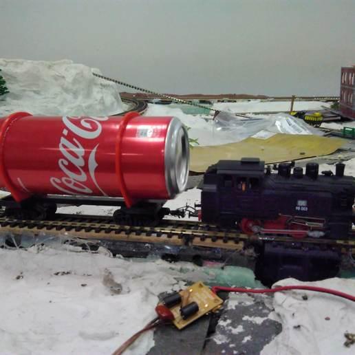 coca-cola.jpg Télécharger fichier STL gratuit Le wagon de Coca-Cola à l'échelle HO 1:87 • Plan pour impression 3D, nenchev