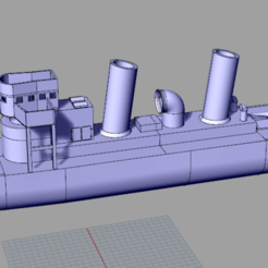Download free STL file V108 - German torpedo boat • 3D printer model, nenchev