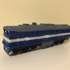 Download free STL file 2TE116 Russian Diesel Train in H0 (1:87) • 3D print template, nenchev