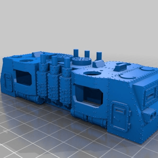 b7c1b67290ea0a6e60ebb349d8af4863.png Download free STL file WARHAMMER 40K Armored train loco - 18 mm scale - 1:87 HO gauge w/ motor • Template to 3D print, nenchev