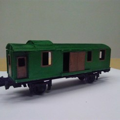 Download free STL file H0 scale old time baggage train car • 3D printer object, nenchev
