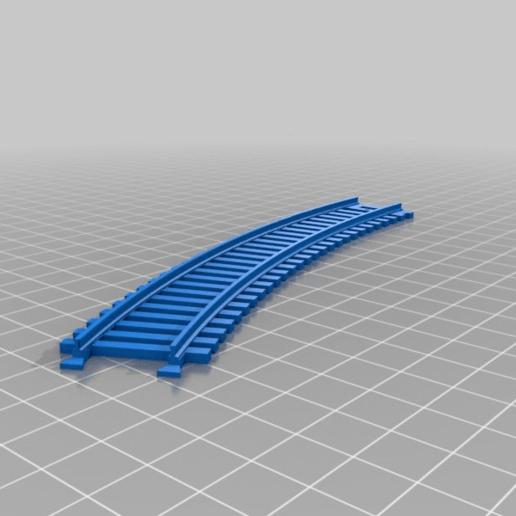 Télécharger fichier STL gratuit Voie d'enclenchement du train - courbe de 30 degrés • Plan pour impression 3D, nenchev