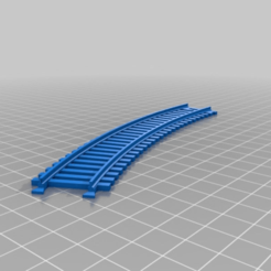 Download free STL file Interlocking train track - curved 30 degrees • 3D printing template, nenchev