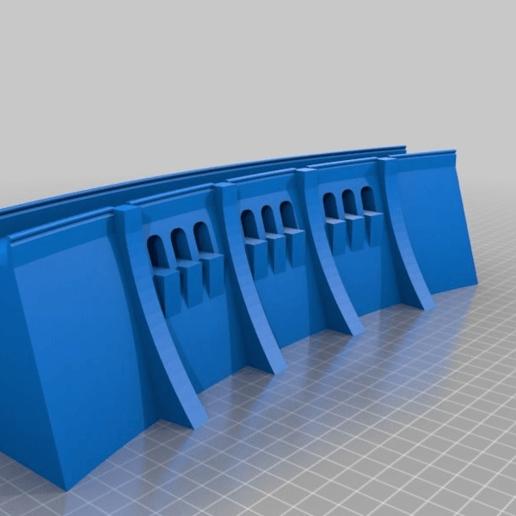 11c077b3c43616932379a1bf180b119c.png Télécharger fichier STL gratuit Mur de barrage simple - échelle HO (1:87) • Modèle à imprimer en 3D, nenchev