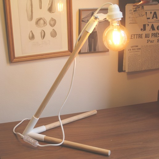 Download free 3D print files Wooden design lamp to be mounted / Wooden style DIY lamp, ViKh_