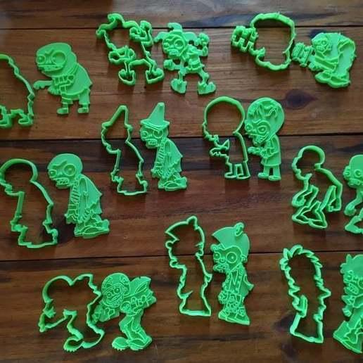 Download 3D printer templates COOKIE CUTTER CORTANTES DE PLANTS VS ZOMBIES, inmar_c