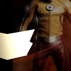 Descargar STL gratis CW Kid Flash Belt Buckle, RedDirt3D