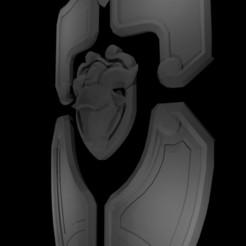 GOAT Shield.jpg Download STL file Brigitte GOAT Shield • 3D print template, RedDirt3D