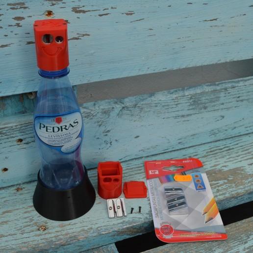 Bottle-pencil-sharpener-container-3.jpg Download free STL file Bottle pencil sharpener (container) • 3D printer model, topedesigns
