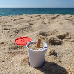 Download free STL files BEACH ASHTRAY (easy print), topedesigns