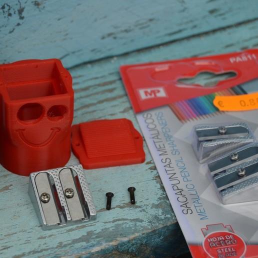Bottle-pencil-sharpener-container-4.jpg Download free STL file Bottle pencil sharpener (container) • 3D printer model, topedesigns