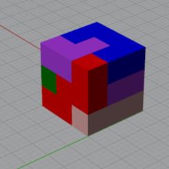Puzzle 1.PNG Télécharger fichier STL Puzzle Cube • Plan pour imprimante 3D, Ghostwriter
