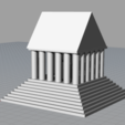3D printer models Temple, Ghostwriter