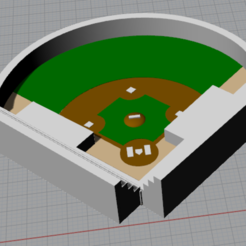 Download 3D printer files Baseball Field, Ghostwriter