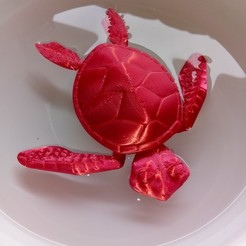 Download 3D printer model Cute Flexi Print-in-Place Turtle, Tinka