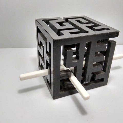 Download free STL file 3D Maze Cube | 3D Maze, JC_Puzzles