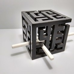 IMG_20190213_130911_HDR.jpg Download free STL file 3D Maze Cube | 3D Maze • Object to 3D print, JC_Puzzles
