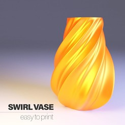 Télécharger fichier STL Swirl vase HD - Easy to print • Plan à imprimer en 3D, Sheeloo