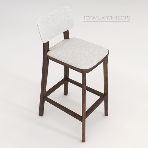 Download free 3D model Porta Venezia Bar Chair, Miladv
