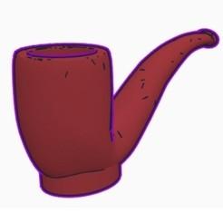 Sin título.jpg Download STL file Cachimba / Shisha Pipa Mouthpiece • 3D printer object, Shisha3D