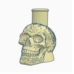 Download 3D printing models Cachimba / Shisha Calavera Skull Mouthpiece, Shisha3D