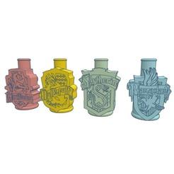 Download 3D printing templates Cachimba / Shisha Mouthpiece Hogwarts Houses, Shisha3D